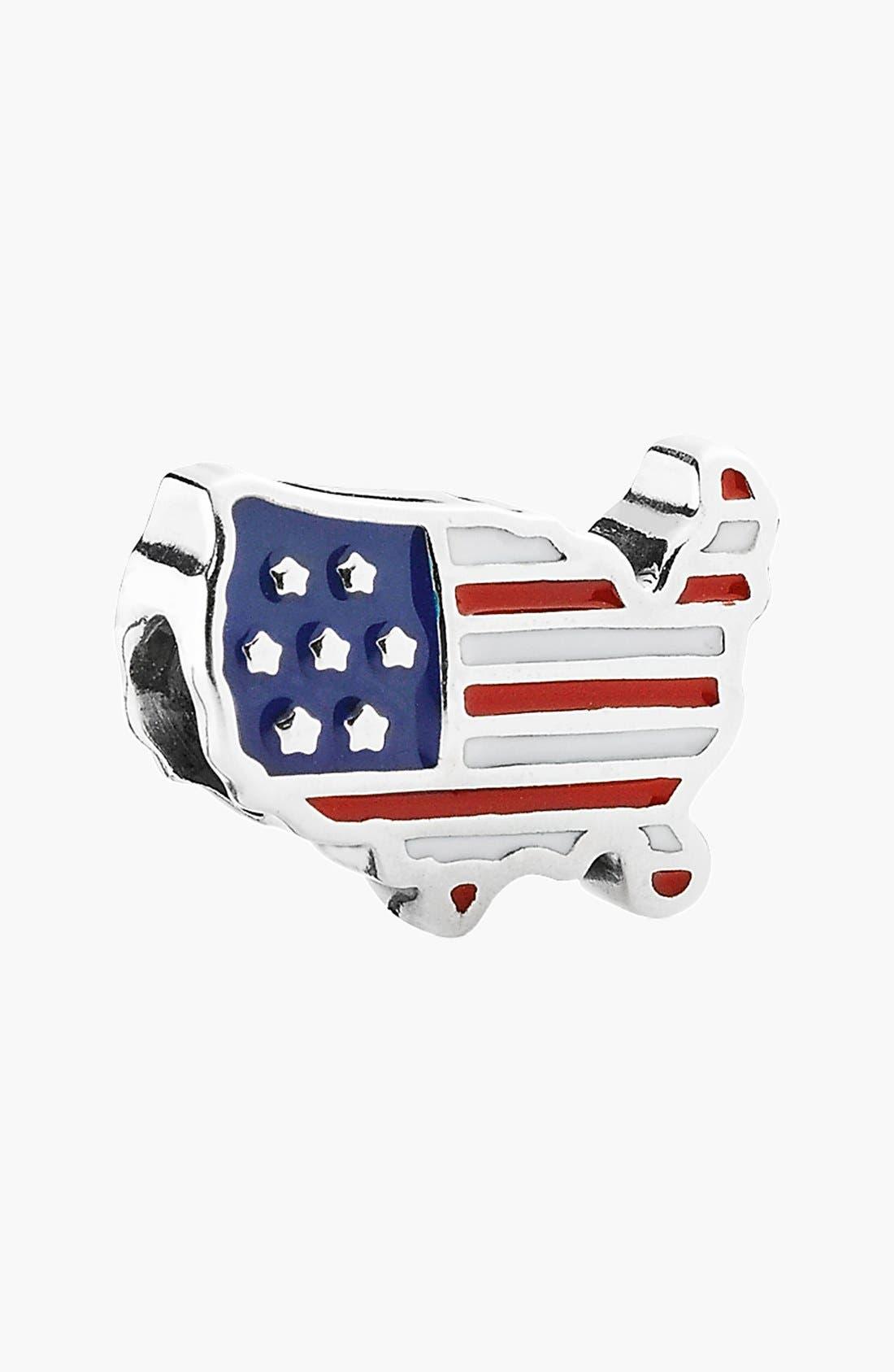 Alternate Image 1 Selected - PANDORA 'USA' Bead Charm