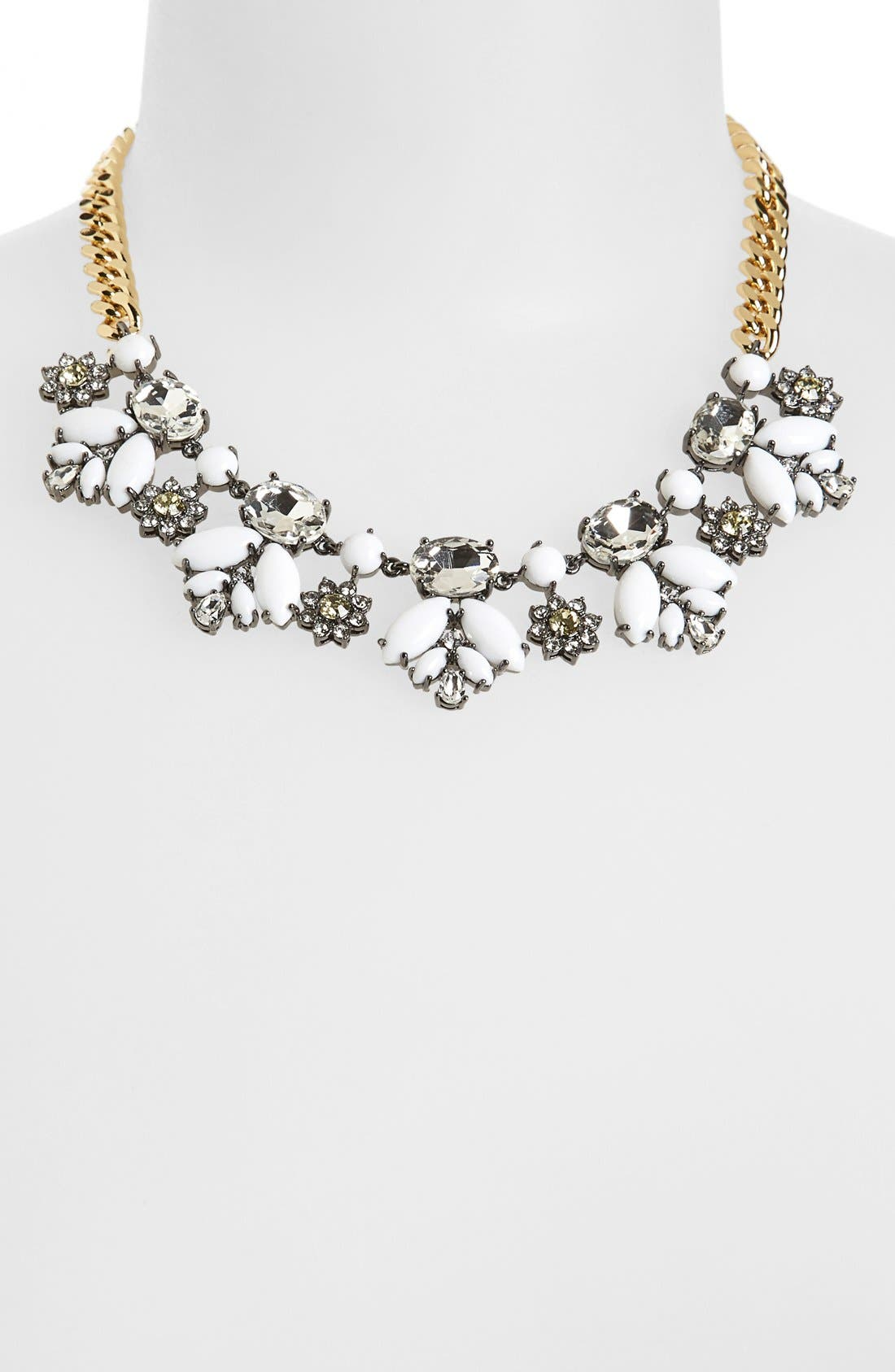 Alternate Image 1 Selected - Juicy Couture 'Brilliant Blooms' Frontal Necklace