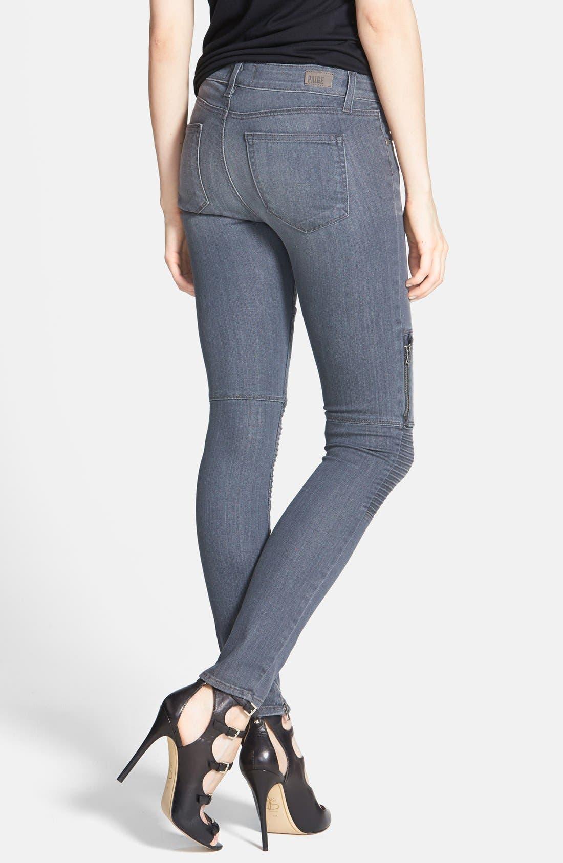 Alternate Image 2  - Paige Denim 'Demi' Ultra Skinny Moto Jeans (Hart)