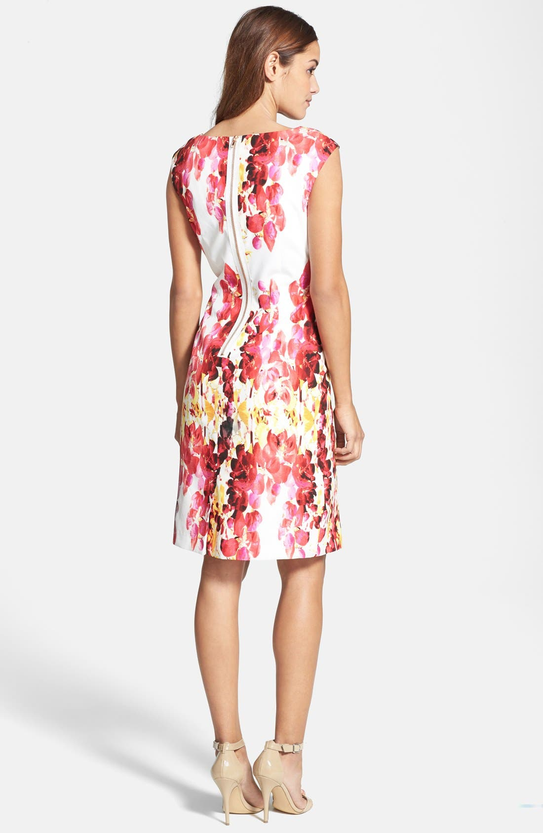 Alternate Image 3  - Adrianna Papell Floral Print Sheath Dress