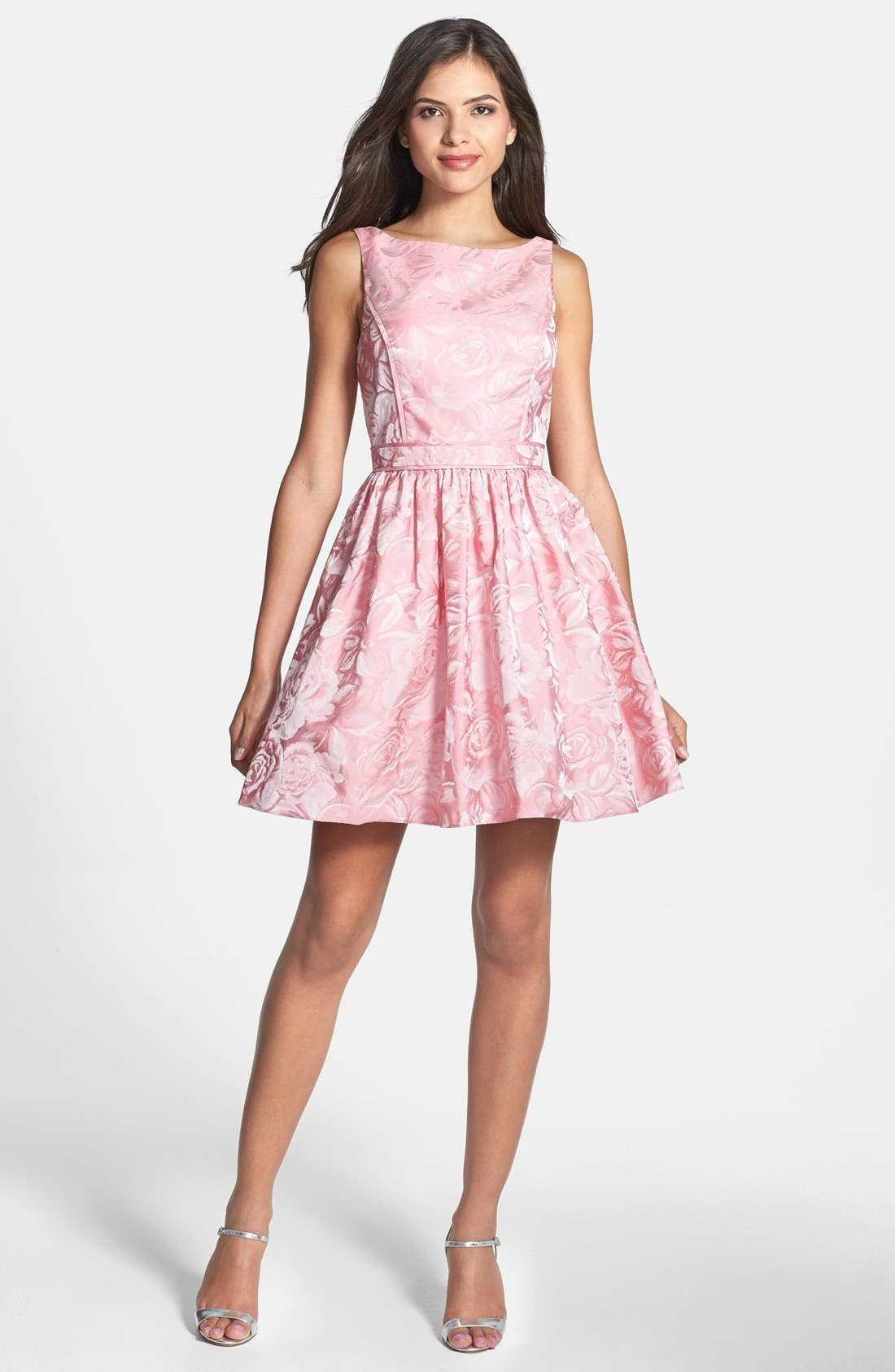 Alternate Image 3  - Aidan Mattox Jacquard Fit & Flare Dress