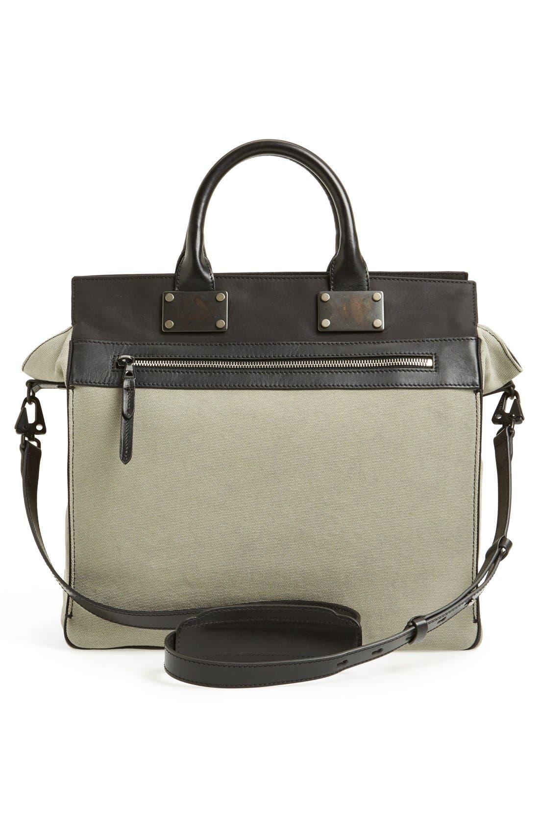 Alternate Image 4  - rag & bone 'Large Pilot' Canvas Satchel