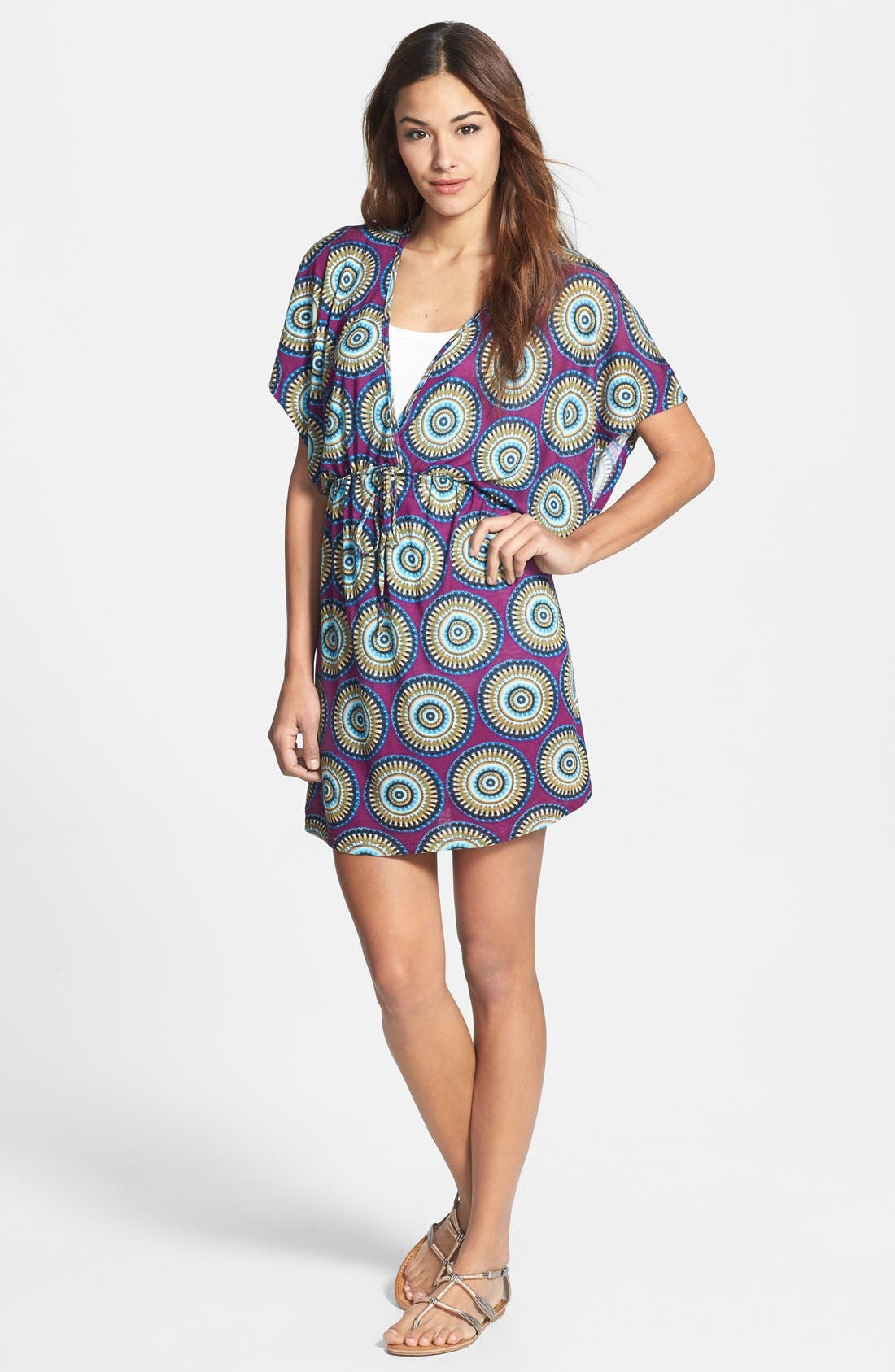 Alternate Image 1 Selected - Loveappella Print Kimono Style Dress