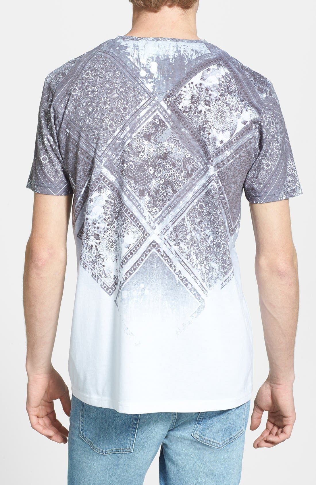 Alternate Image 2  - Topman Paisley Tile Print T-Shirt