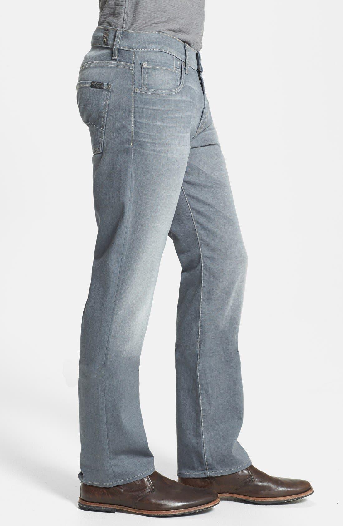Alternate Image 3  - 7 For All Mankind® 'Carsen' Straight Leg Jeans (Vesper Grey)