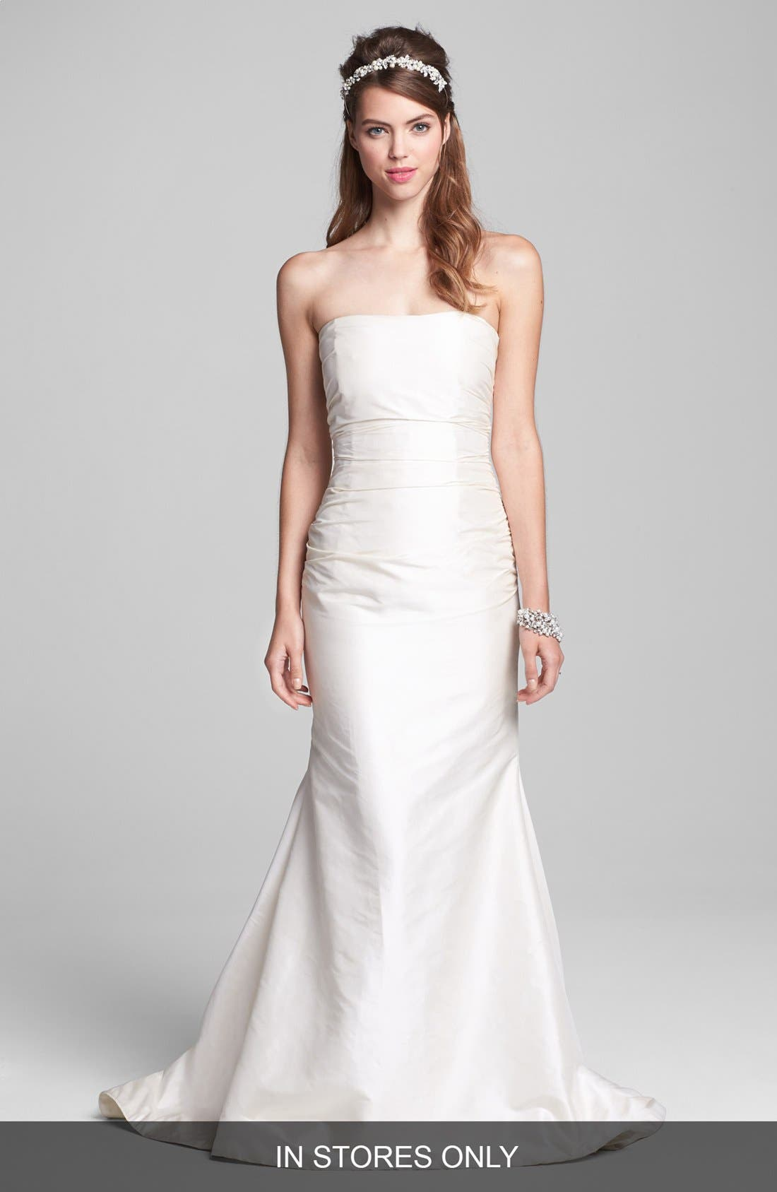 Alternate Image 1 Selected - Caroline DeVillo 'Abigail' Silk Shantung Mermaid Gown (In Stores Only)