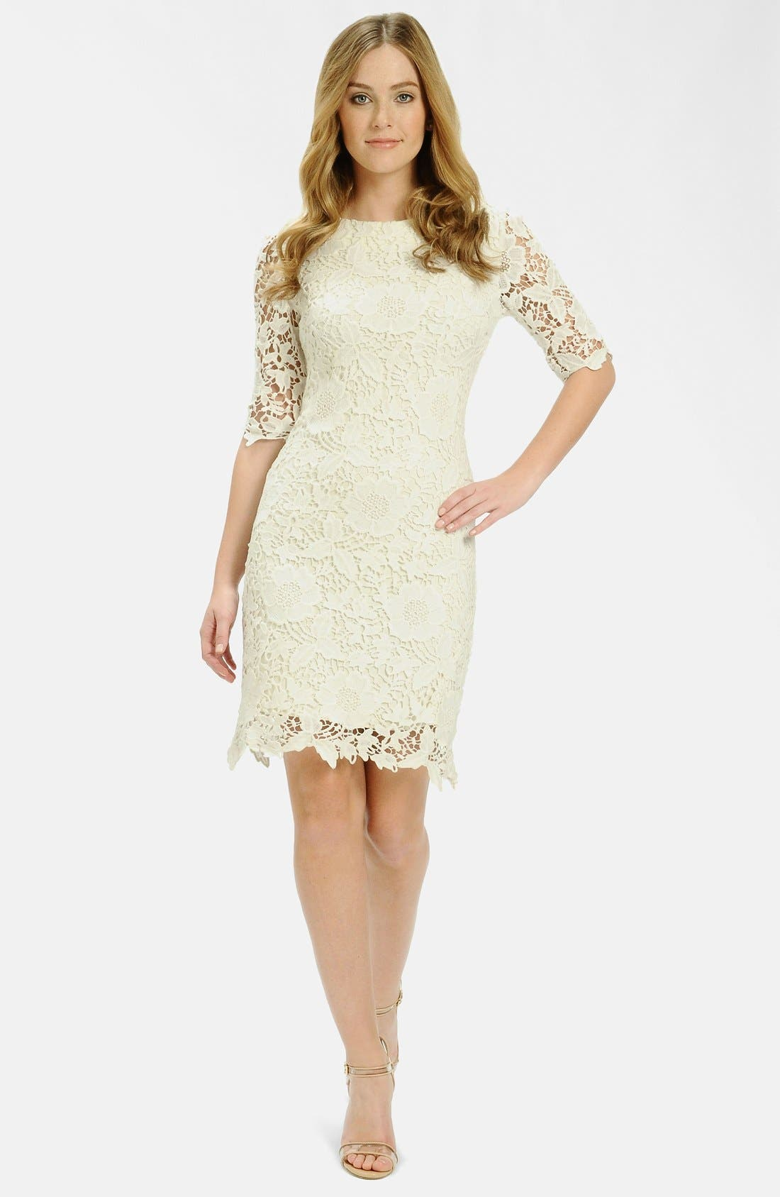 Alternate Image 1 Selected - LABEL by five twelve Foiled Lace Sheath Dress