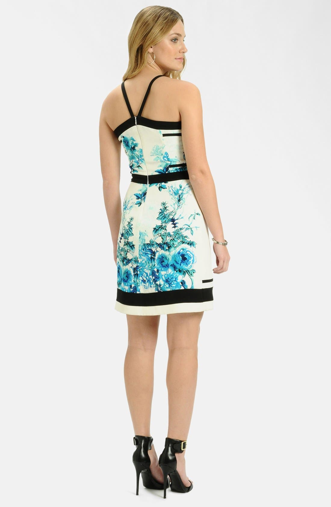 Alternate Image 2  - LABEL by five twelve Framed Print Crepe Sheath Dress