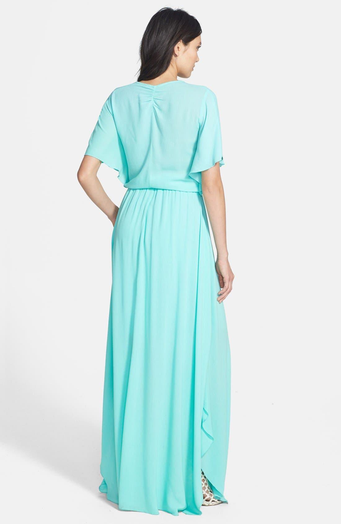 Alternate Image 2  - Ella Moss 'Stella' Ruffle Blouson Maxi Dress