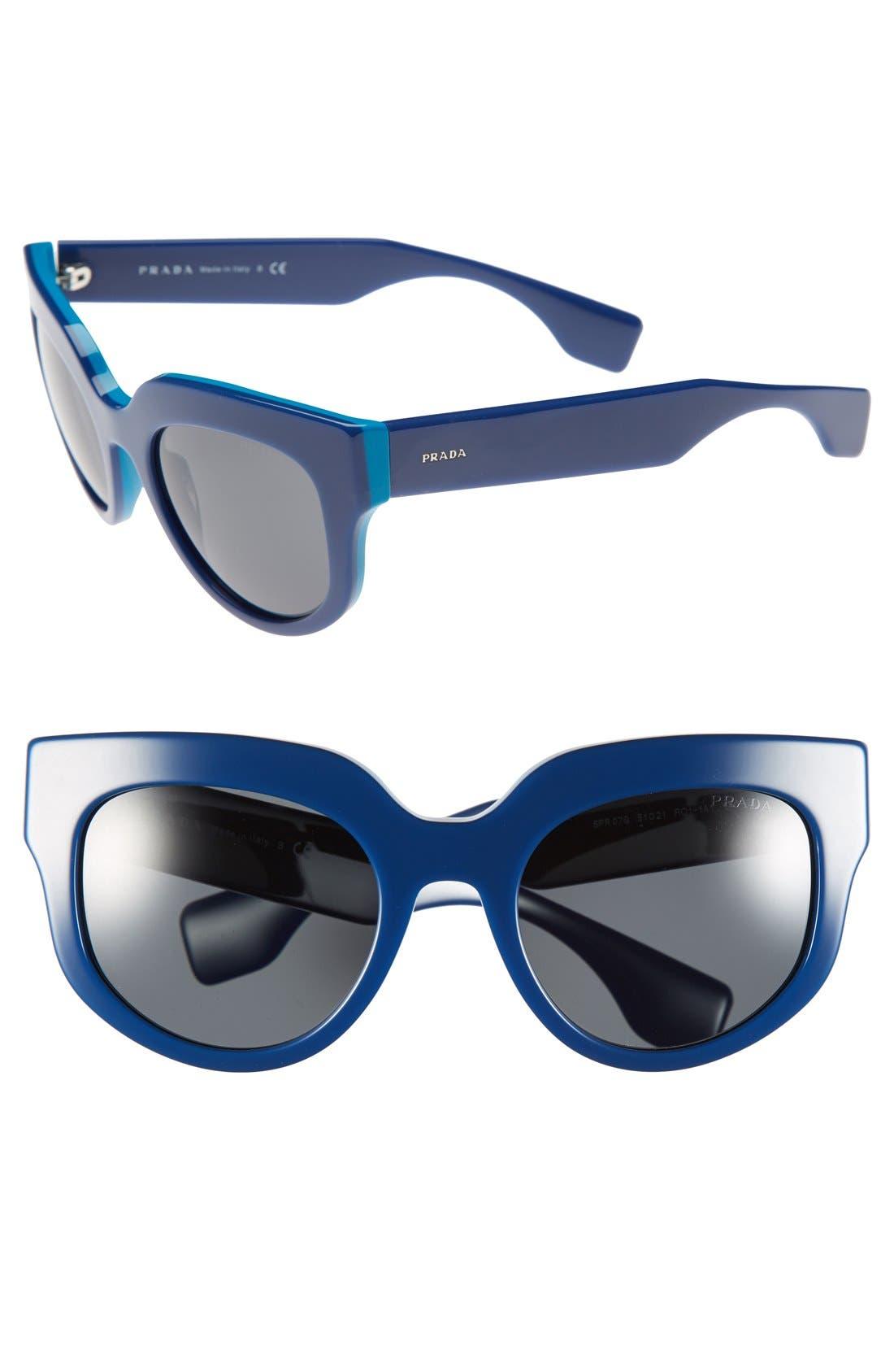 Alternate Image 1 Selected - Prada 51mm Round Sunglasses