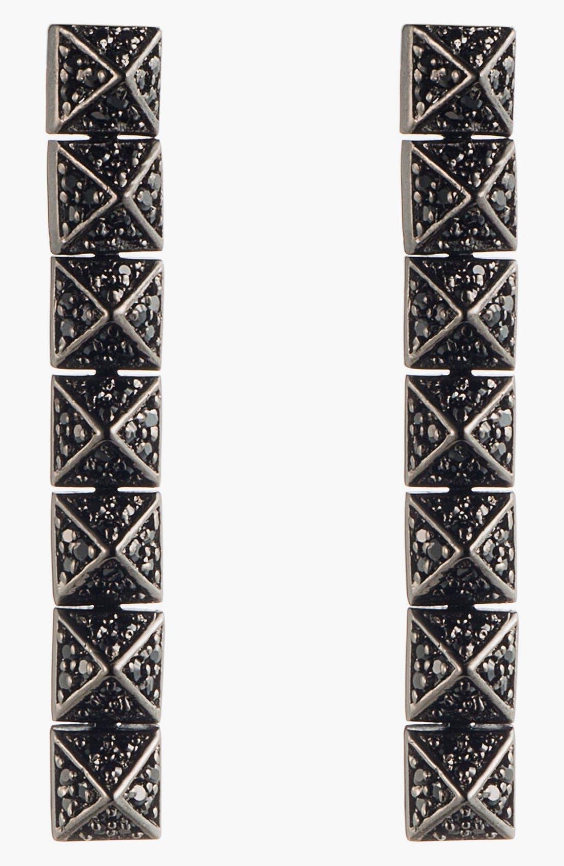 Alternate Image 1 Selected - Eddie Borgo Pavé Pyramid Drop Earrings