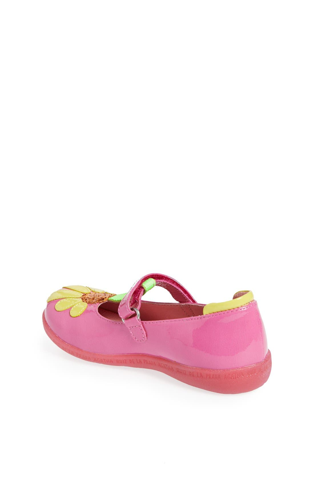 Alternate Image 2  - Agatha Ruiz de la Prada 'Glitter Flower' Mary Jane (Toddler & Little Kid)