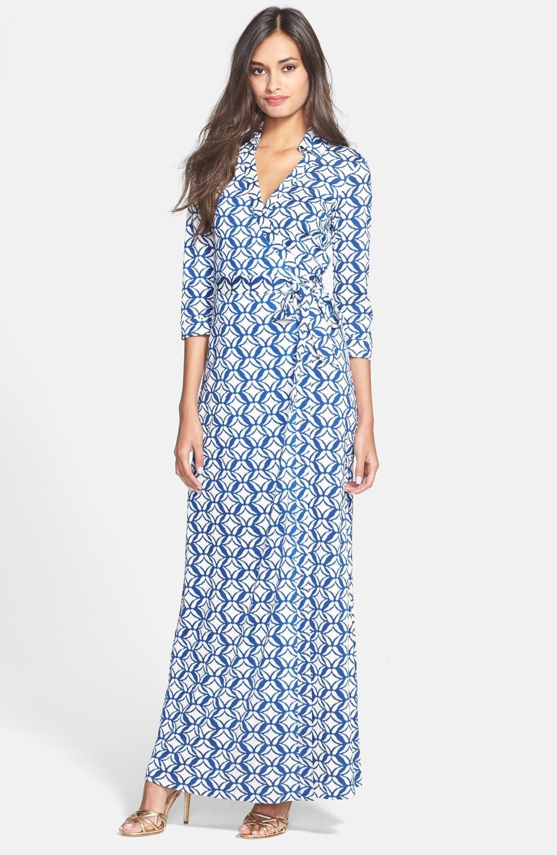 Main Image - Diane von Furstenberg 'Abigail' Print Silk Wrap Dress