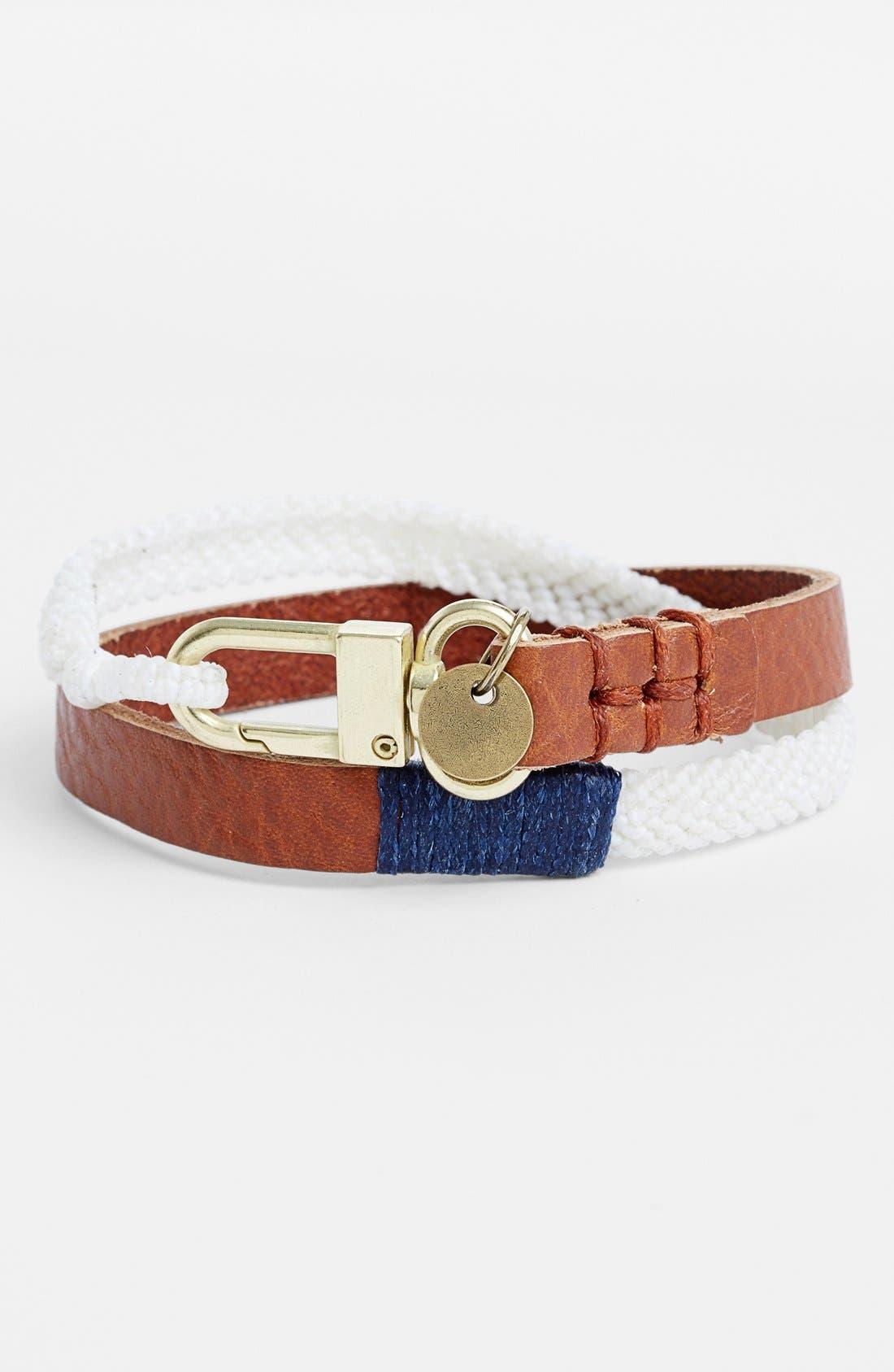 Alternate Image 1 Selected - Caputo & Co Mixed Media Double Wrap Bracelet