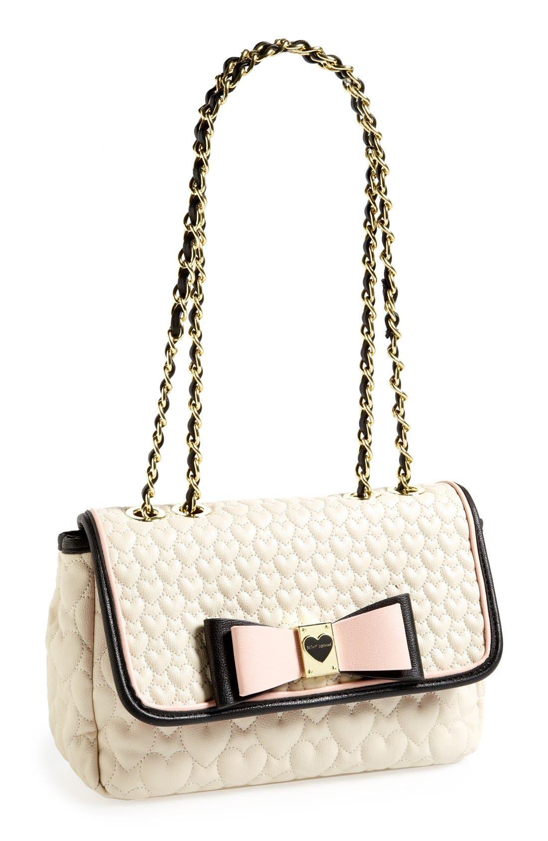 Alternate Image 1 Selected - Betsey Johnson Flapover Shoulder Bag