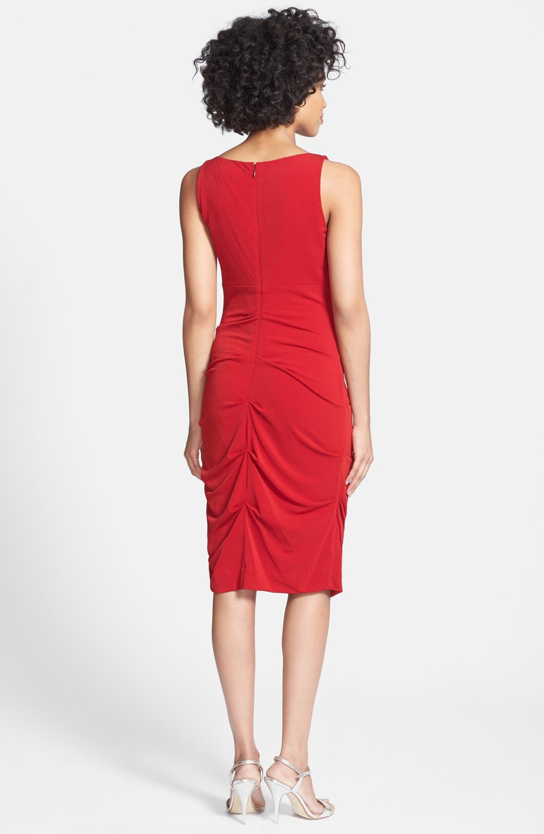 Alternate Image 2  - Nicole Miller Cowl Neck Crepe Sheath Dress
