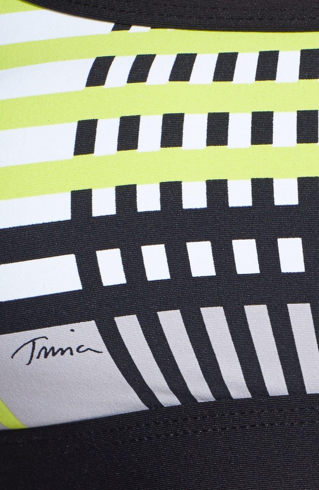 Alternate Image 3  - Trina Turk Recreation Stripe Racerback Sports Bra