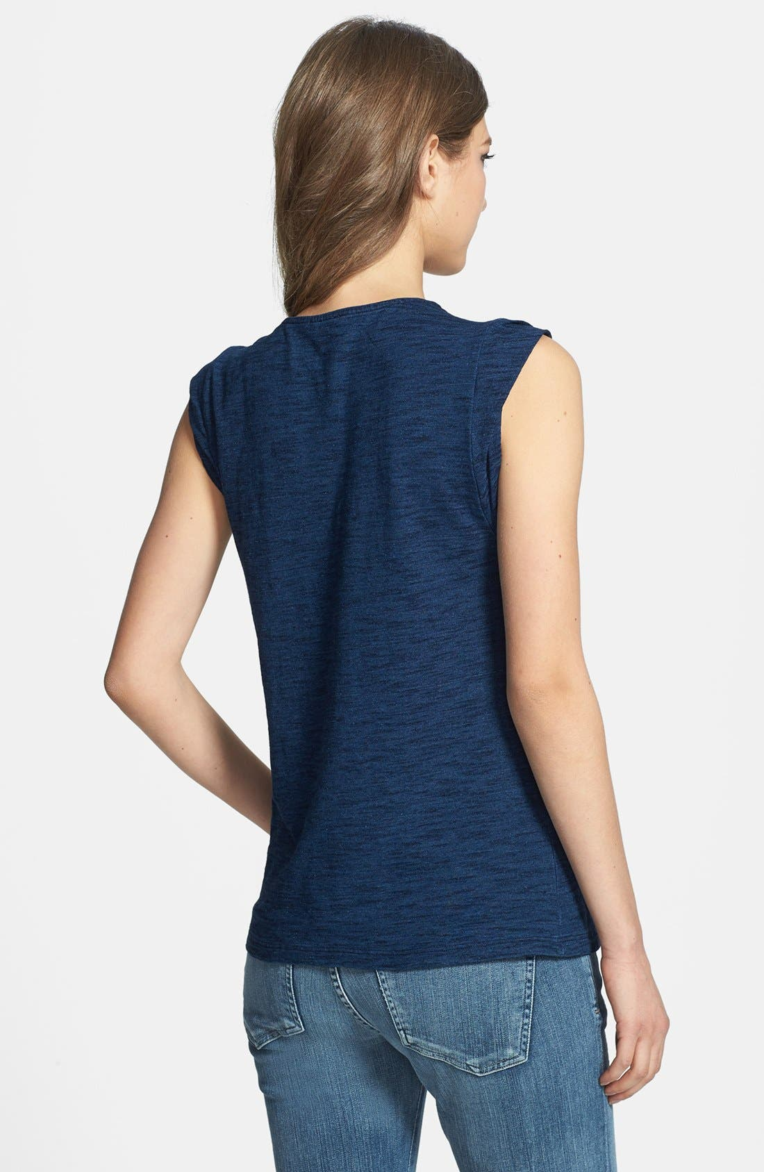 Alternate Image 2  - Splendid Roll Sleeve Cotton Muscle Tee