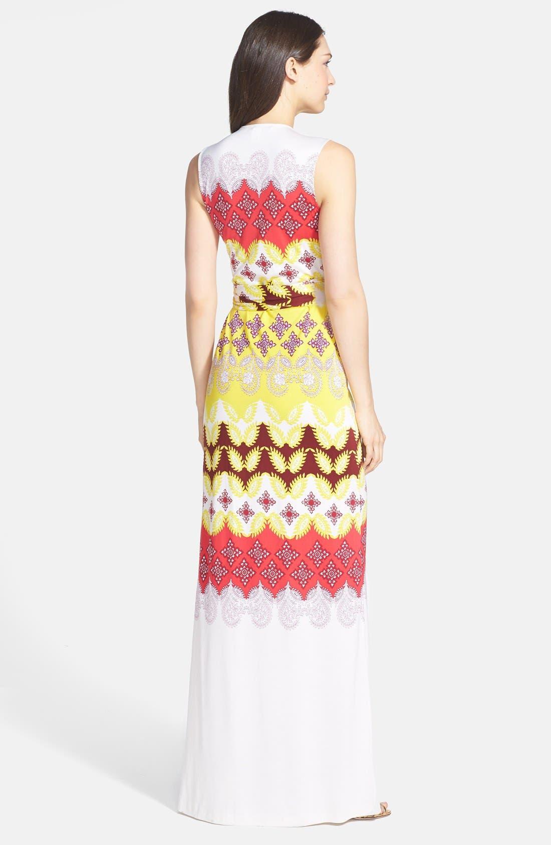 Alternate Image 2  - Diane von Furstenberg 'New Yahzi' Silk Maxi Wrap Dress