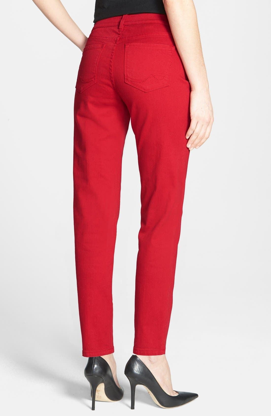 Alternate Image 2  - NYDJ 'Clarissa' Fitted Stretch Ankle Skinny Jeans (Regular & Petite)