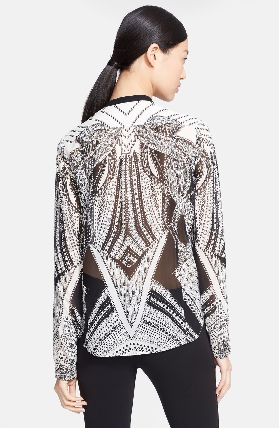 Alternate Image 2  - Roberto Cavalli Print Silk Blouse
