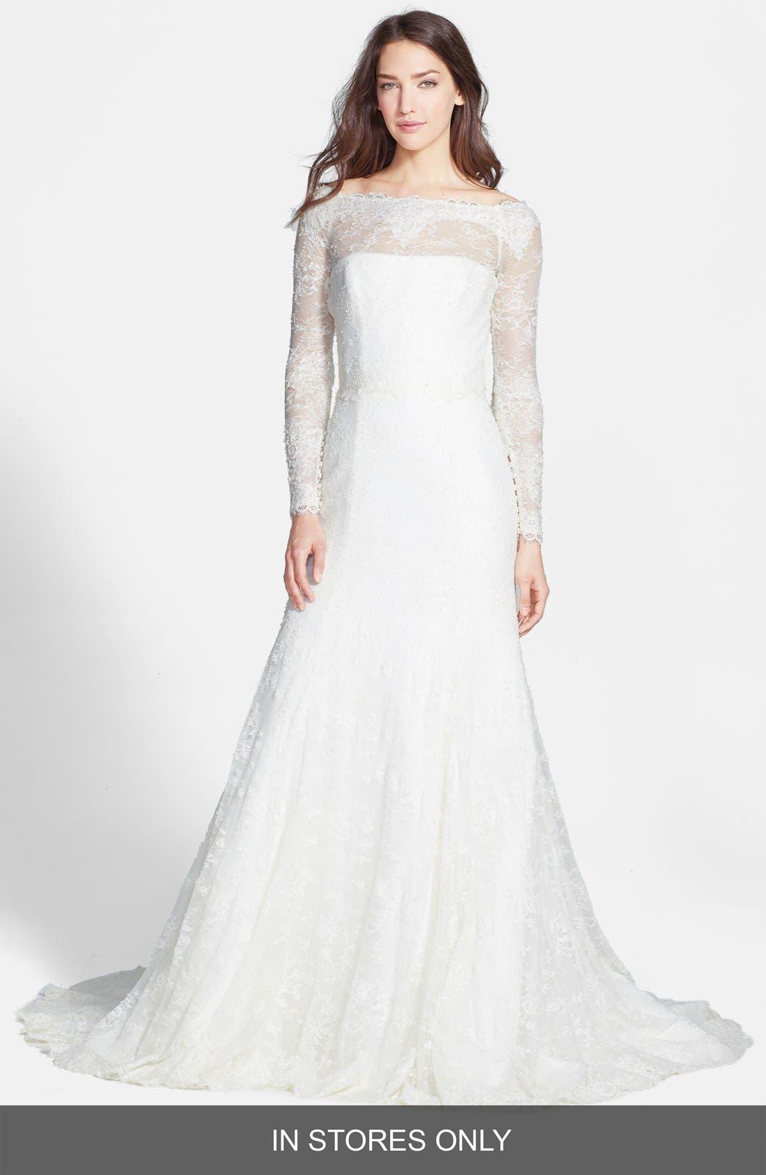 JESÚS PEIRÓ Chantilly Lace Mermaid Dress