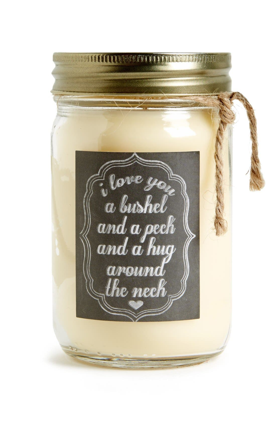 Alternate Image 1 Selected - Primitives by Kathy 'I Love You - Dark Vanilla Bean' Mason Jar Candle