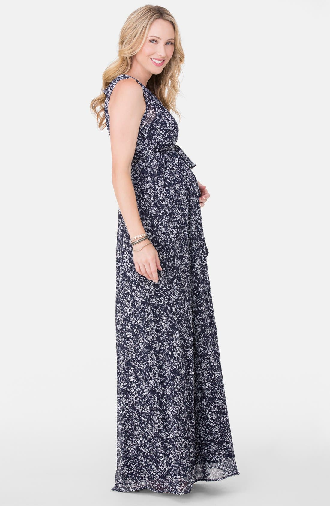 Alternate Image 3  - Ingrid & Isabel® Floral Print Maternity Maxi Dress
