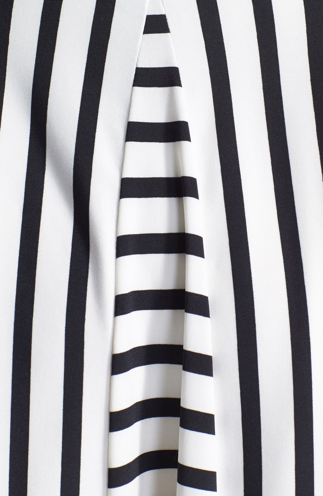 Alternate Image 4  - Maggy London Stripe Jersey Fit & Flare Dress (Regular & Petite)