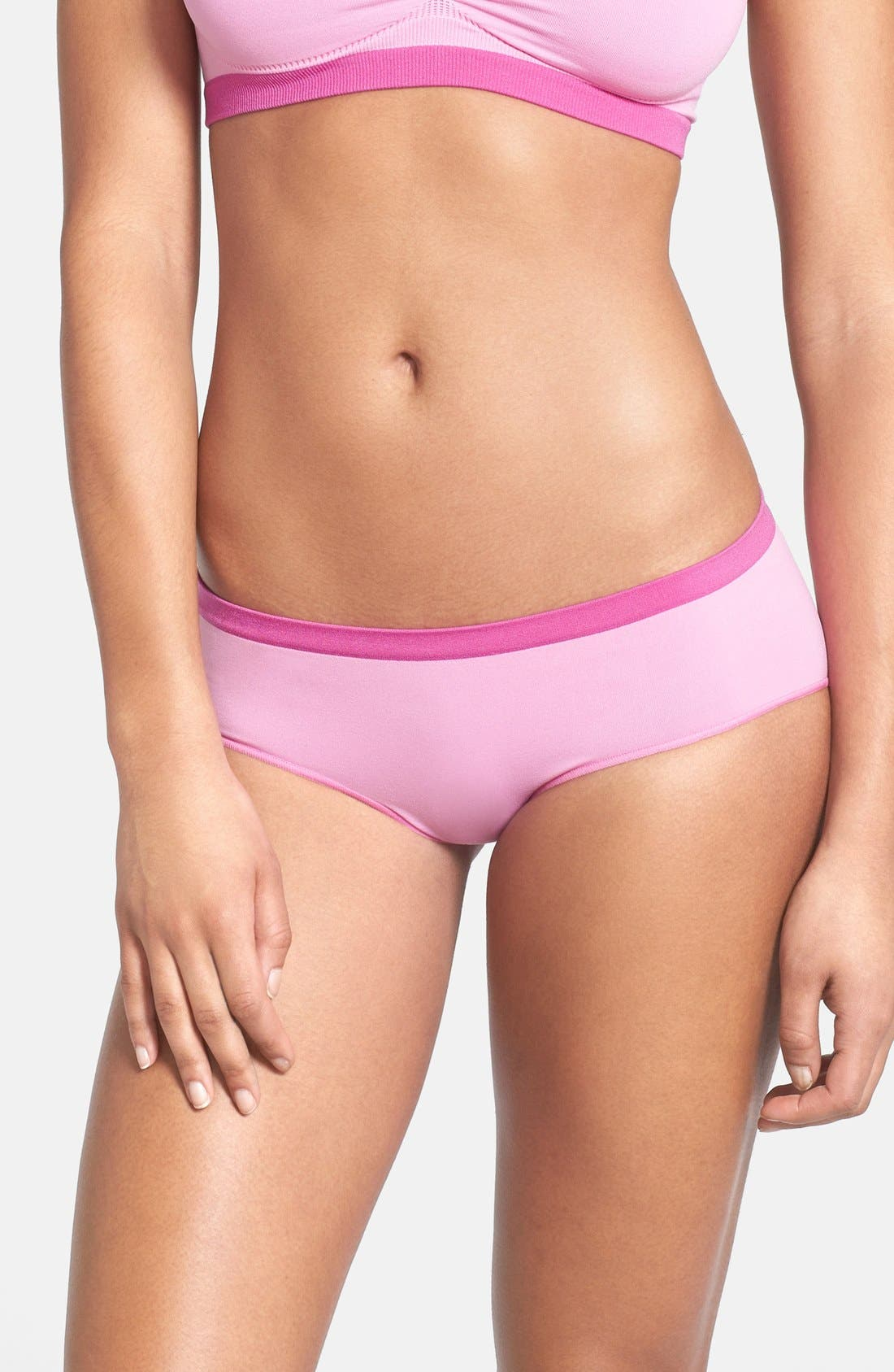 Alternate Image 1 Selected - Shimera Seamless Colorblock Hipster Briefs