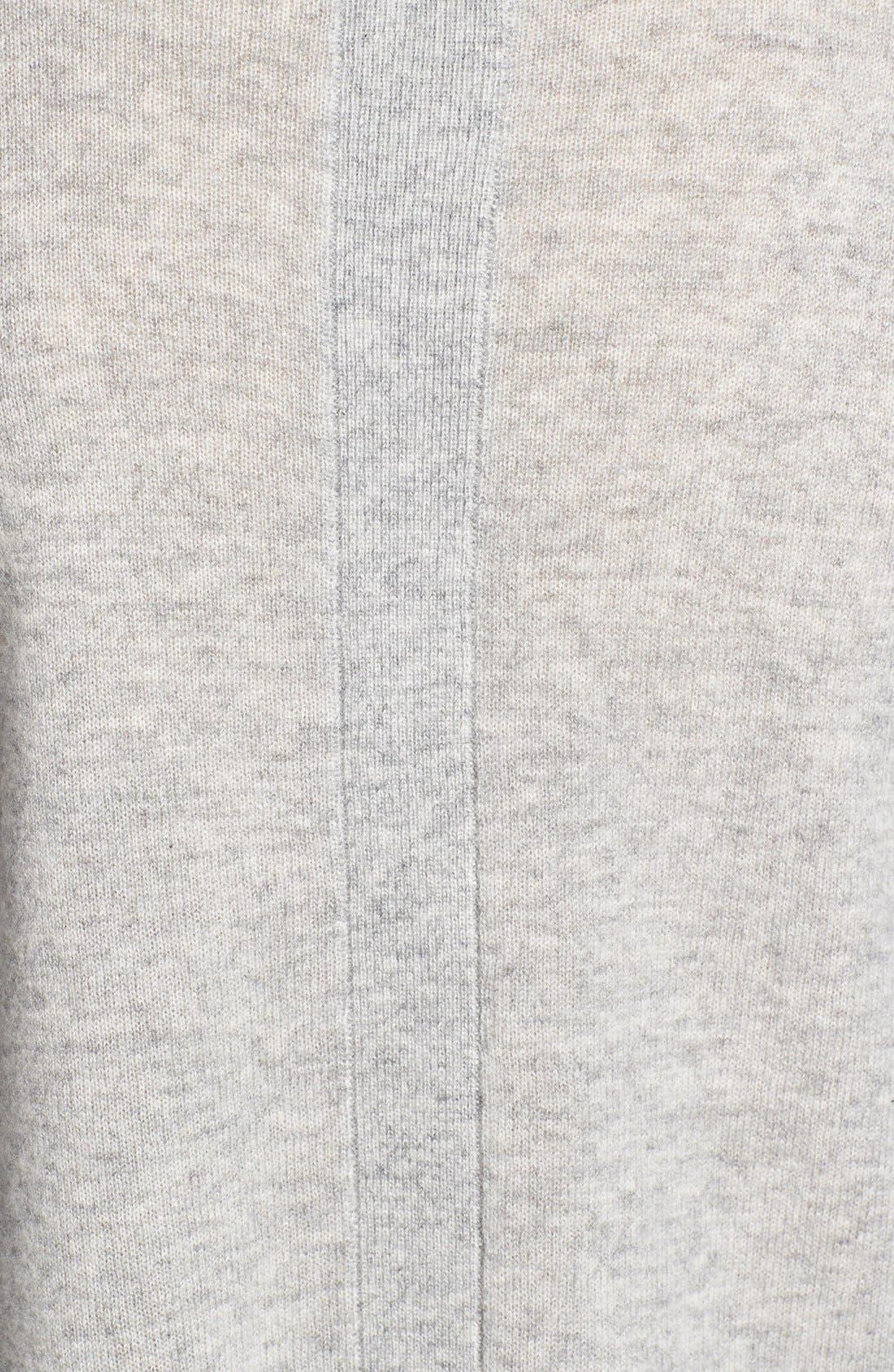 Alternate Image 3  - Halogen® Lightweight Cashmere Crewneck Sweater with Pocket (Petite)