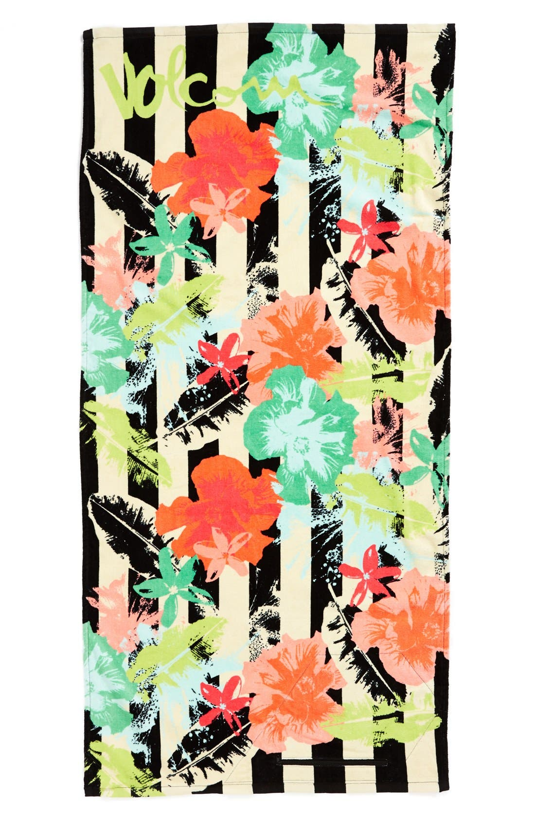 Main Image - Volcom 'Night Out' Floral Print Beach Towel (Juniors)