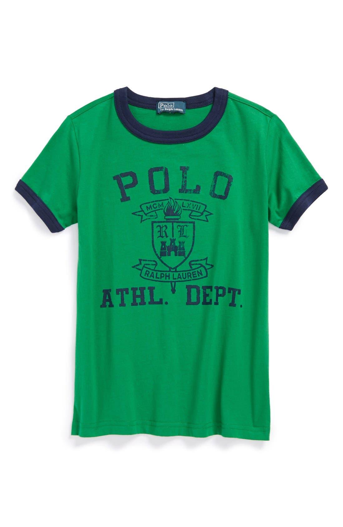 Alternate Image 1 Selected - Ralph Lauren Jersey T-Shirt (Little Boys)