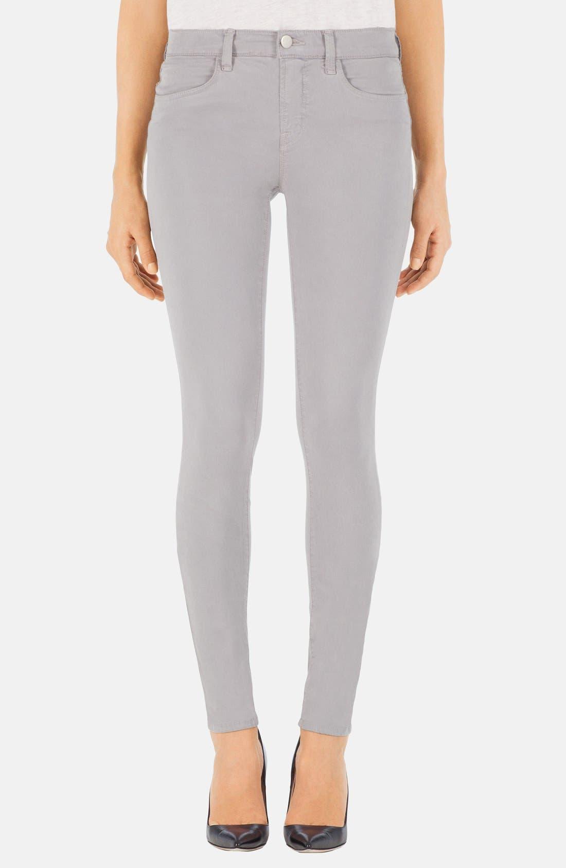 Main Image - J Brand '485' Mid Rise Super Skinny Jeans (Limestone)