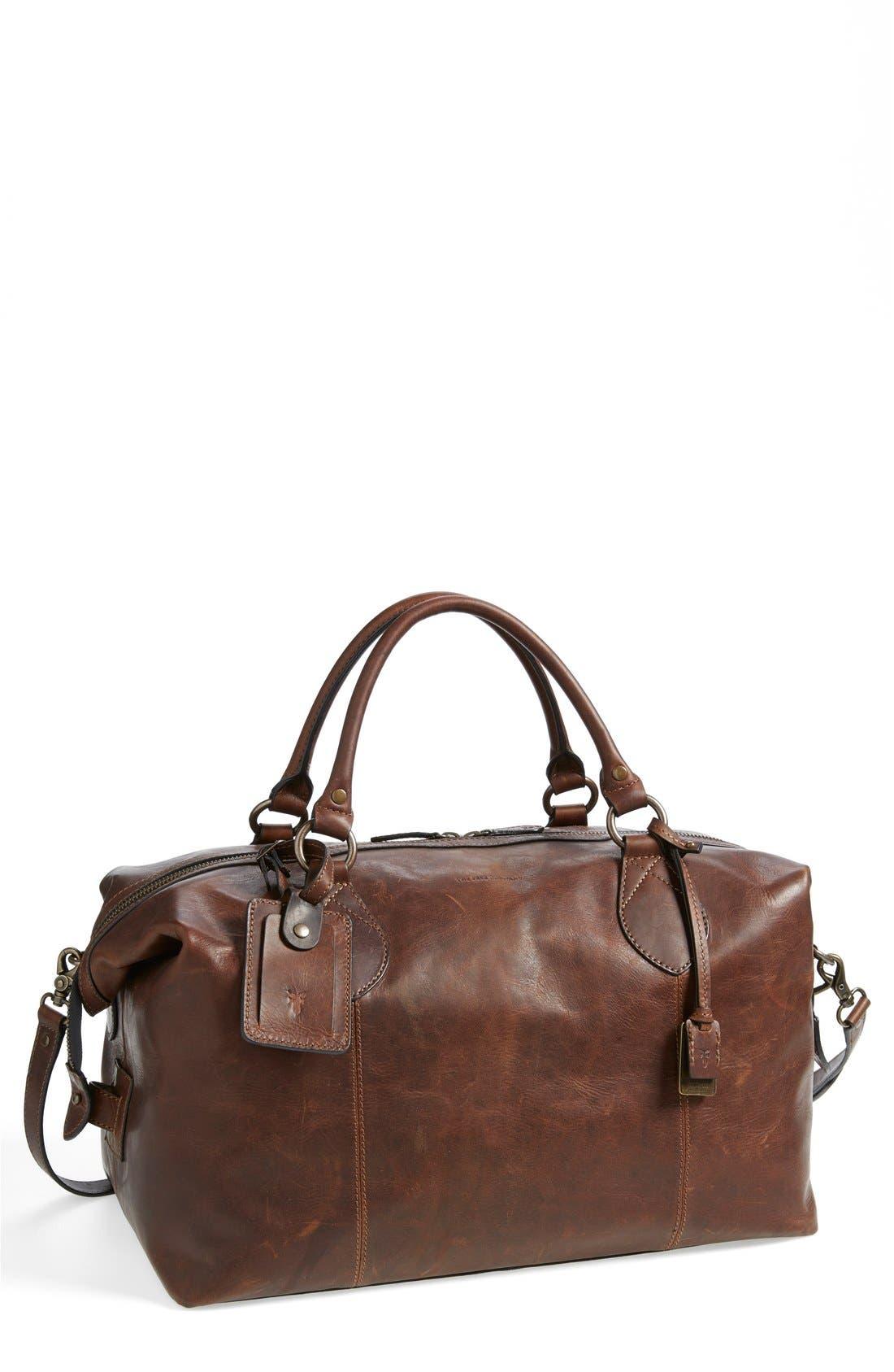 Alternate Image 1 Selected - Frye 'Logan' Leather Overnight Bag (Online Only)