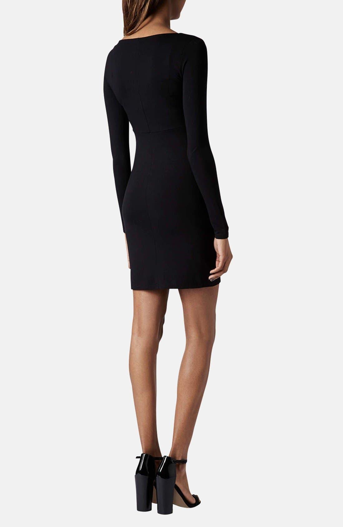 Alternate Image 2  - Topshop Seam Detail Jersey Body-Con Dress