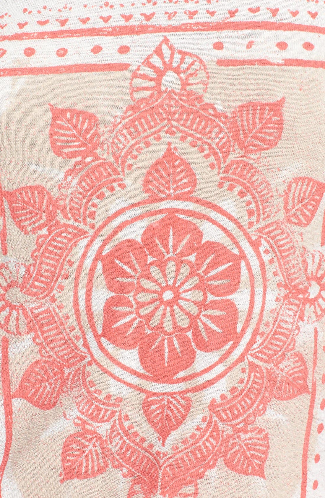 Alternate Image 3  - Lucky Brand Watercolor Print Scoop Neck Tee