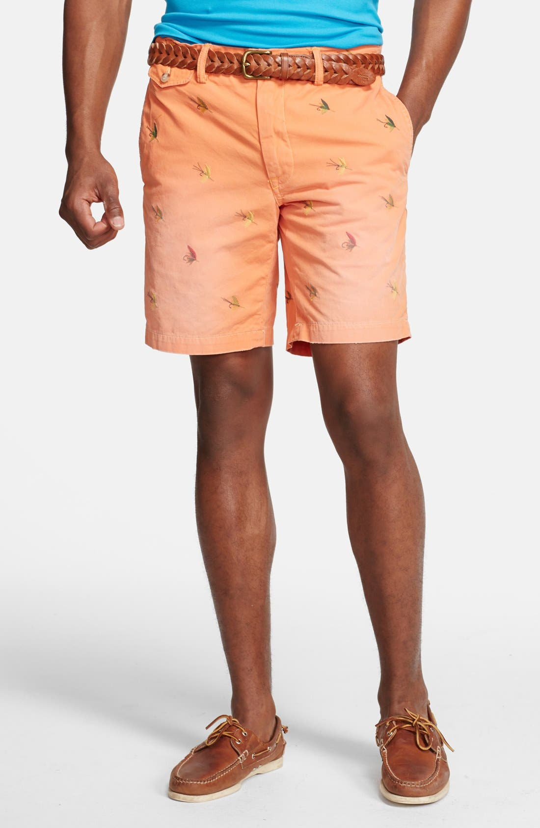 Alternate Image 1 Selected - Polo Ralph Lauren 'Greenwich - Fly Fishing' Straight Leg Canvas Shorts