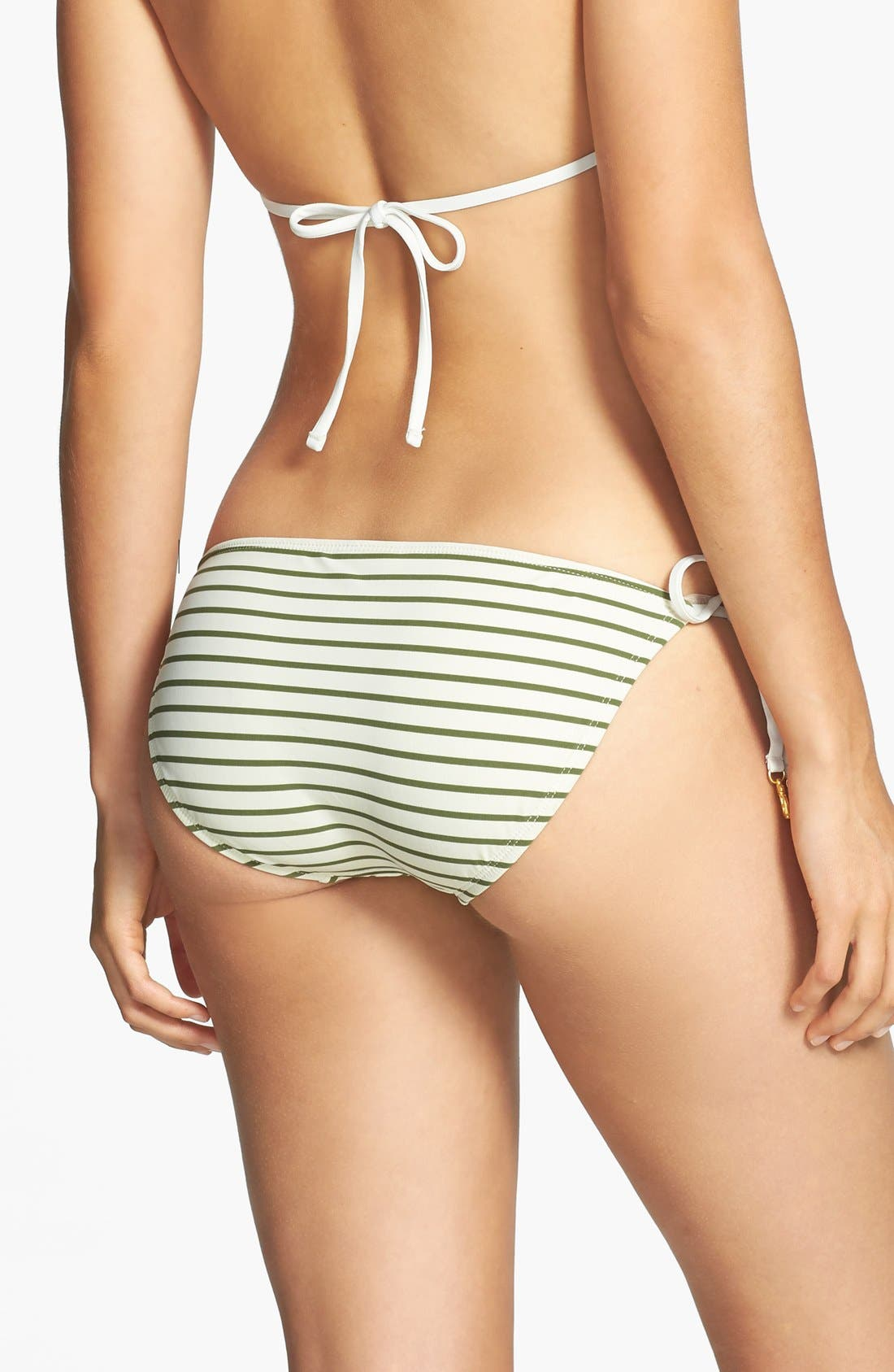 Alternate Image 2  - Sperry 'Front Lines' Sequin Stripe Side Tie Bikini Bottoms