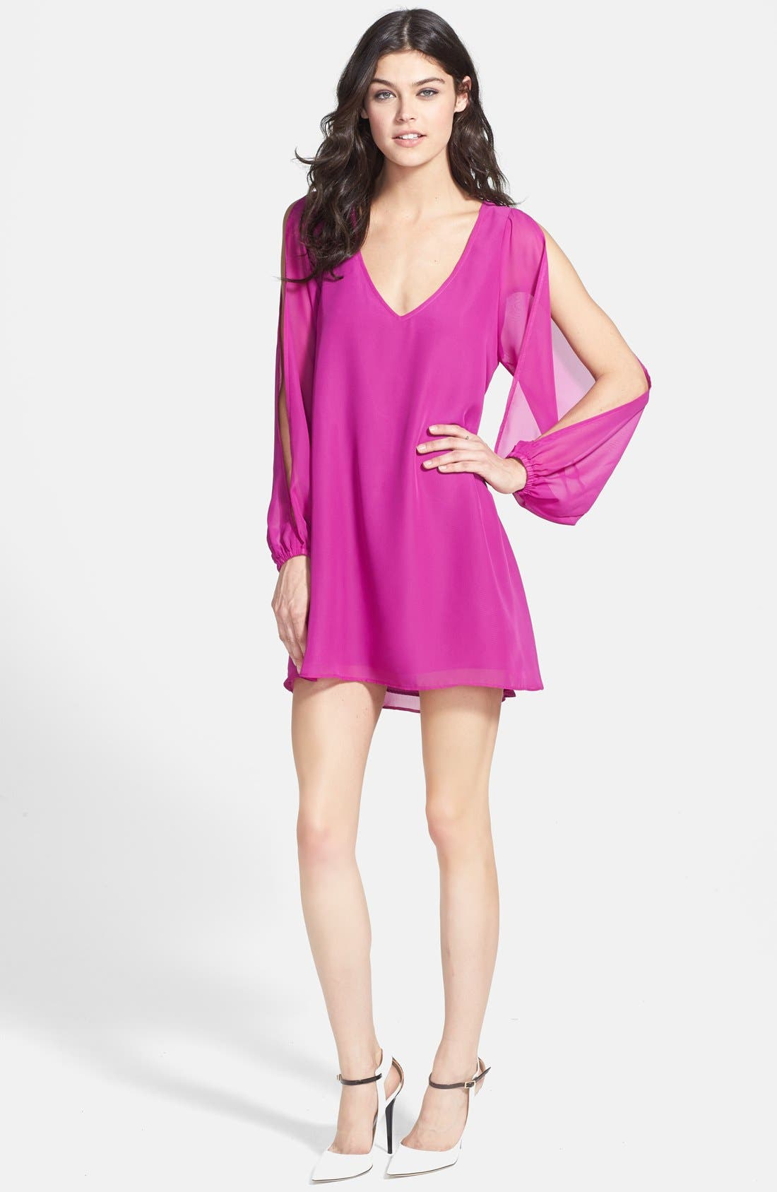 Alternate Image 1 Selected - L is for Lover 'Gracie' Split Sleeve Mini Dress