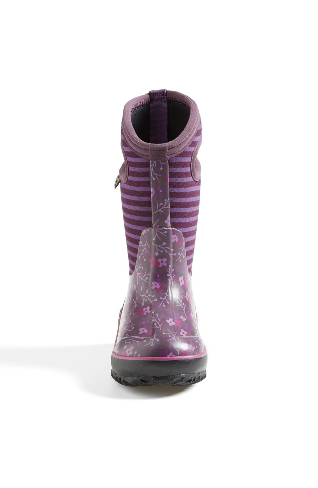Alternate Image 3  - Bogs 'Classic - Flower Stripe' Waterproof Boot (Little Kid & Big Kid)