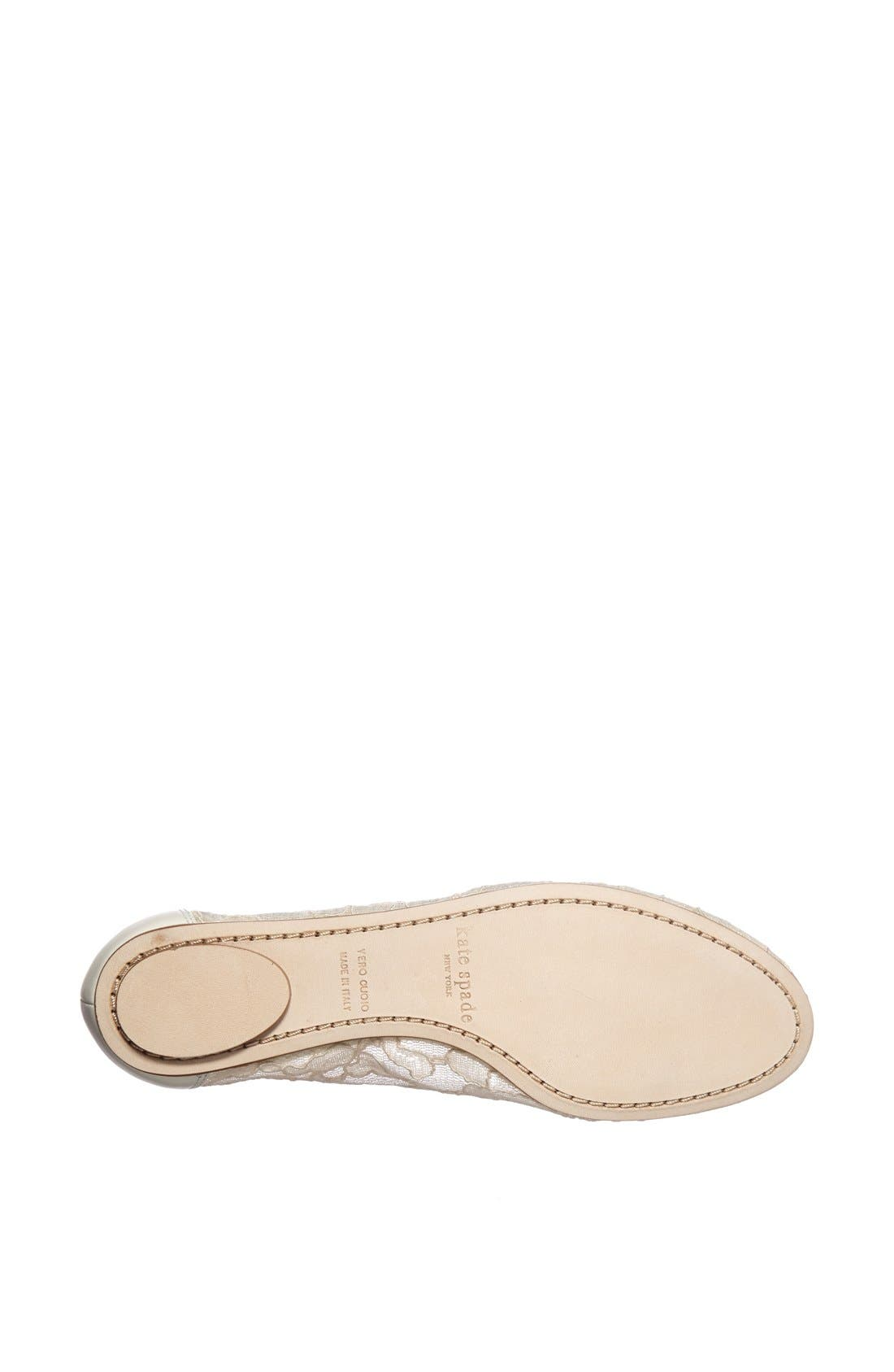 Alternate Image 4  - kate spade new york 'banner' lace & leather flat