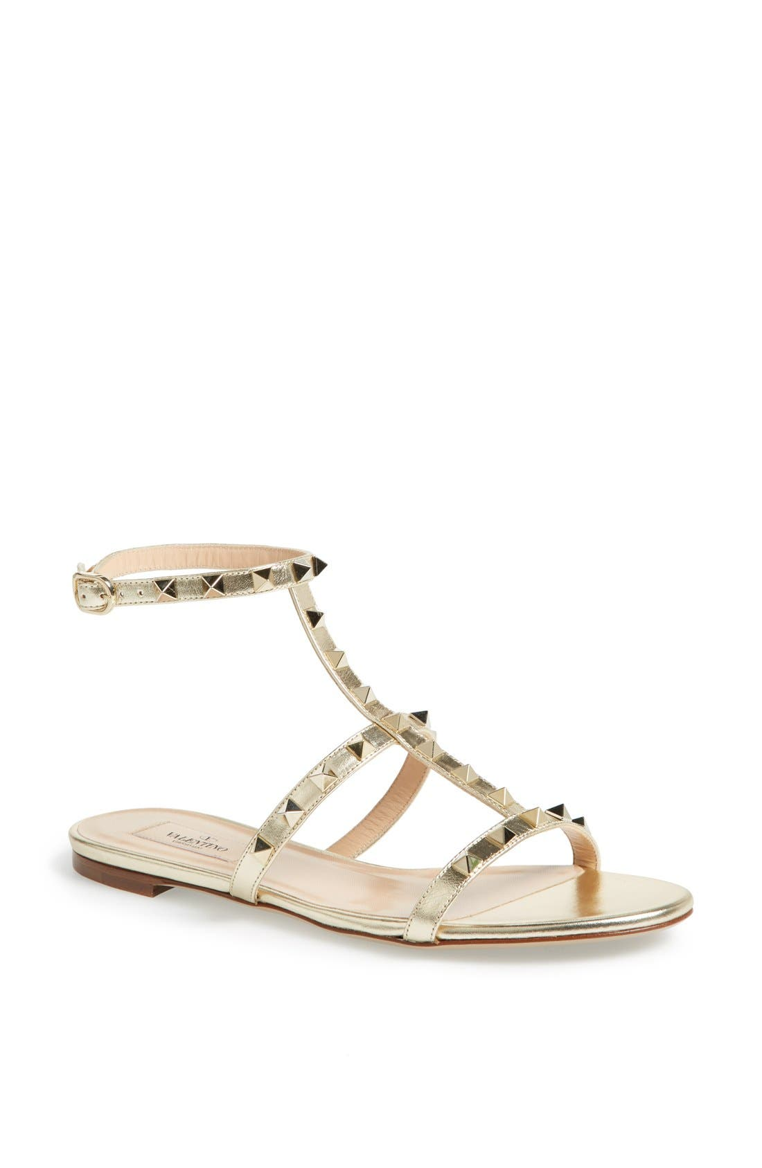 Main Image - Valentino 'Rockstud' T-Strap Sandal