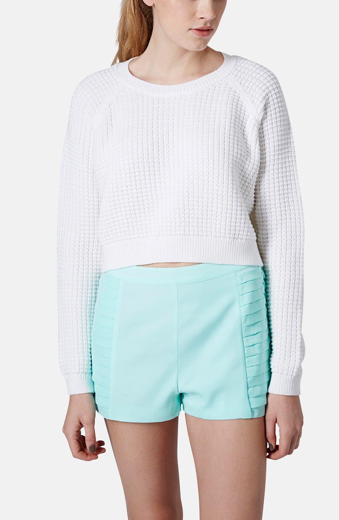 Alternate Image 1 Selected - Topshop 'Fisherman' Crop Sweater