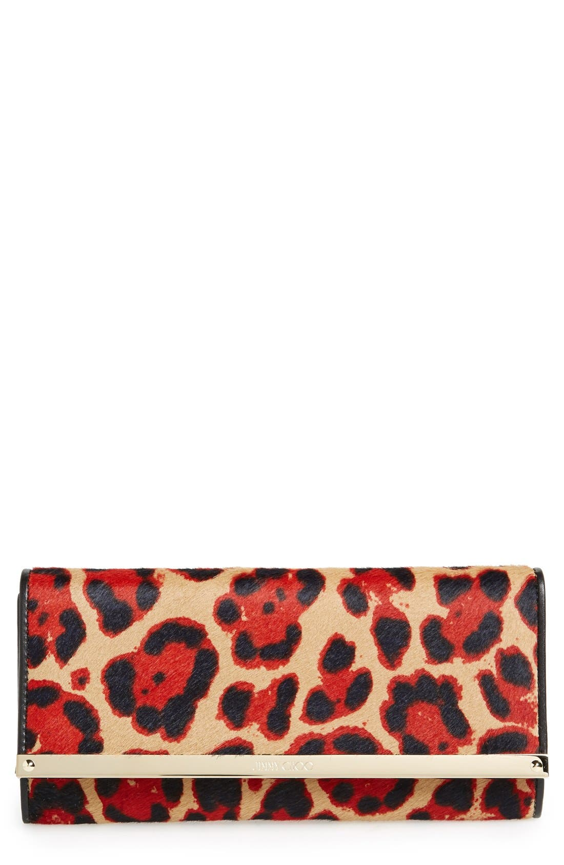 Alternate Image 1 Selected - Jimmy Choo 'Milla' Genuine Calf Hair Wallet on a Chain