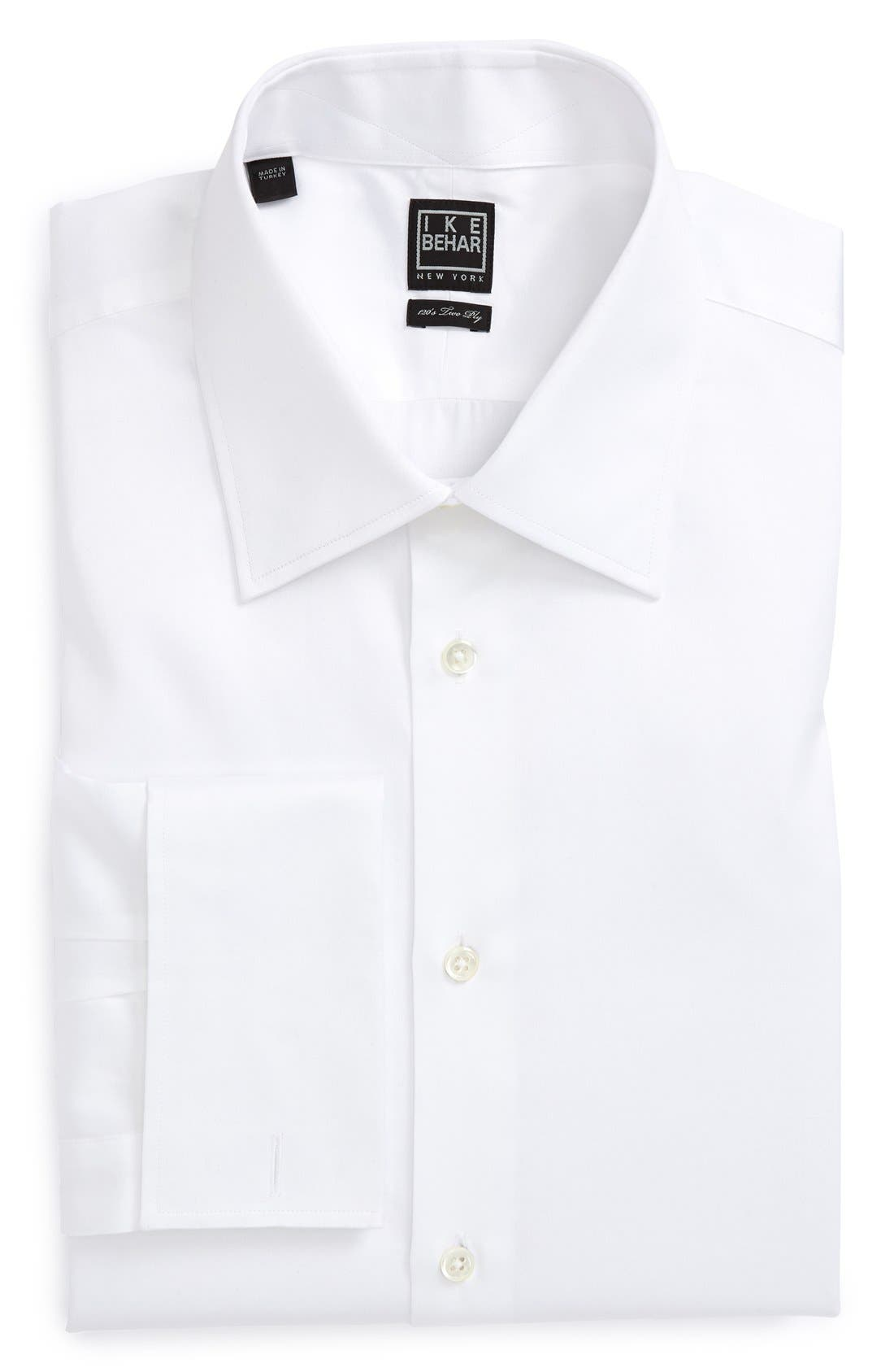 Main Image - Ike Behar Regular Fit Solid French Cuff Dress Shirt (Online Only)