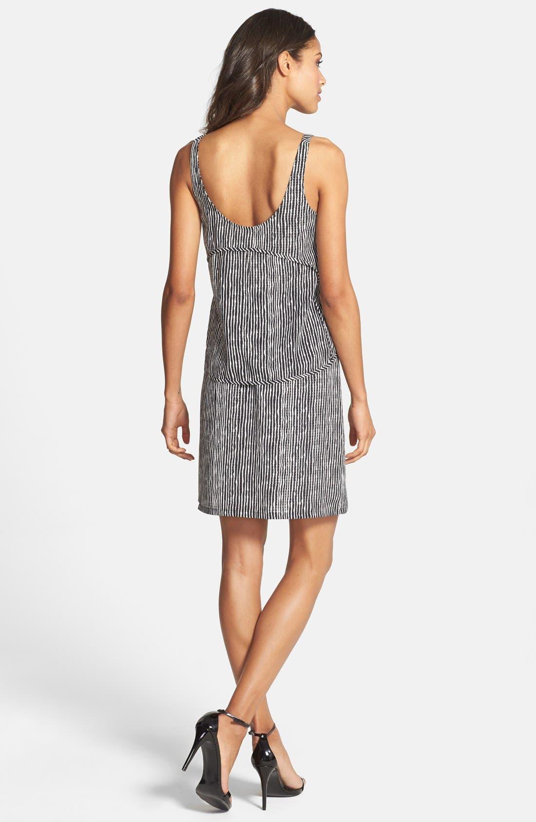 Alternate Image 2  - Ivy & Blu Stripe Popover Tank Shift Dress
