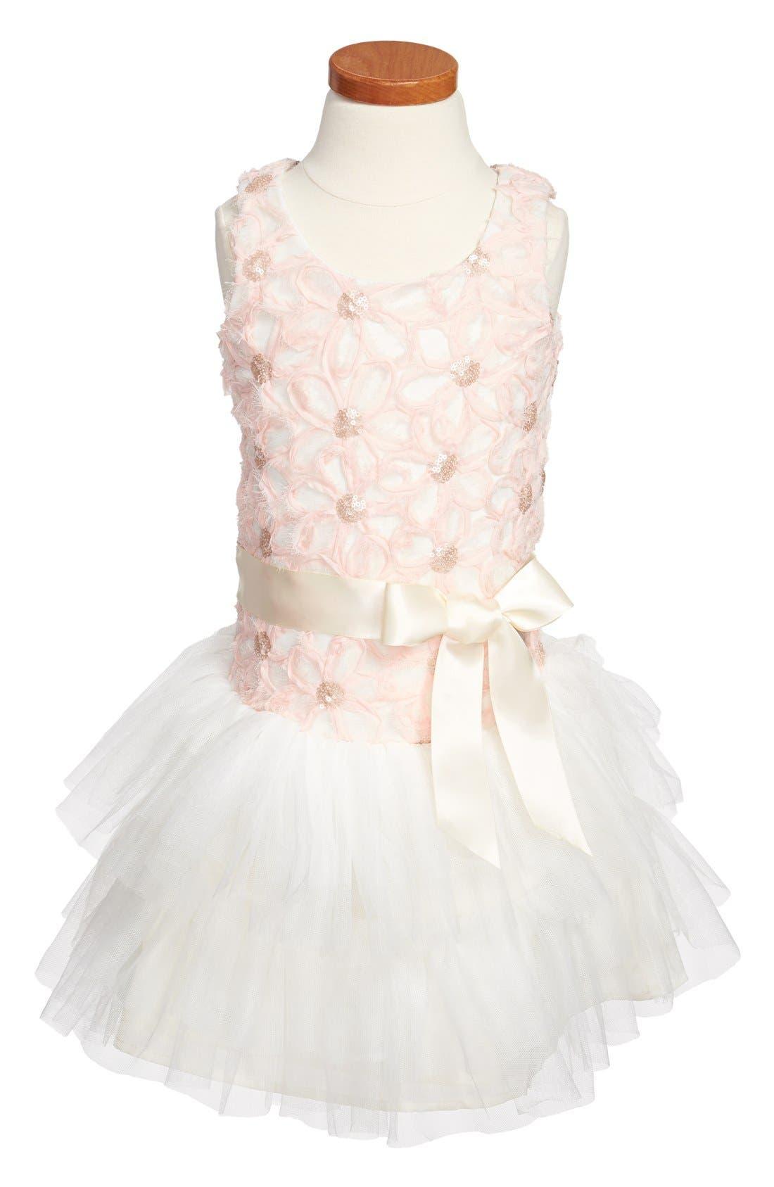 Main Image - Zunie Soutache Drop Waist Dress (Little Girls & Big Girls)