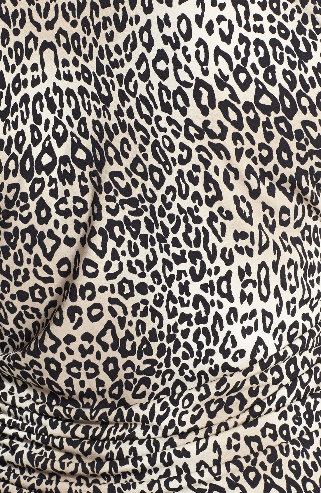 Alternate Image 3  - Vince Camuto 'Desert Leopard' Pleat Front V-Neck Top (Plus Size)