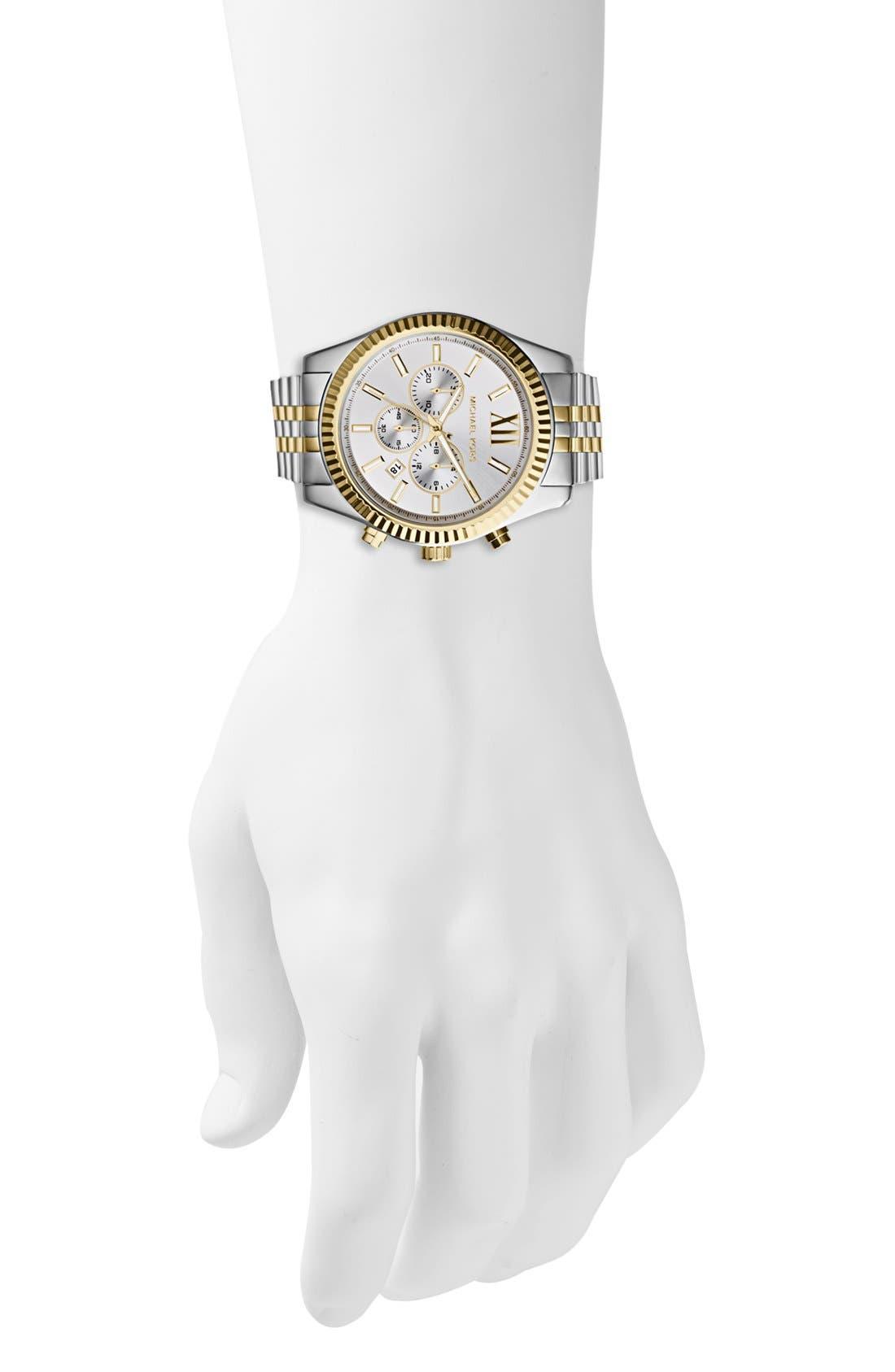 Alternate Image 4  - Michael Kors Large Lexington Chronograph Bracelet Watch, 45mm